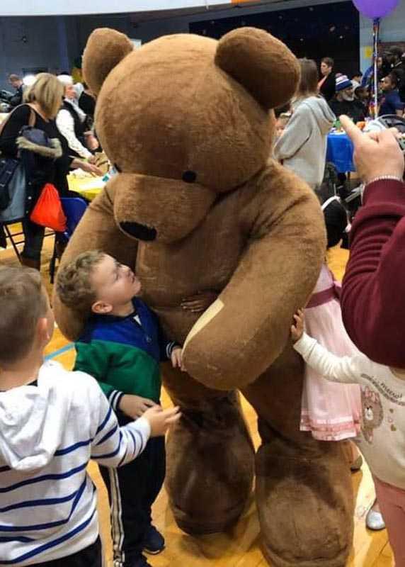 Professional teddy bear actor costume