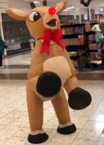 Quadrupedal reindeer illusion puppet suit
