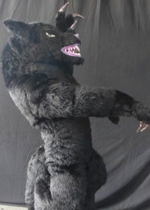 Professional Wolf air mascot costume