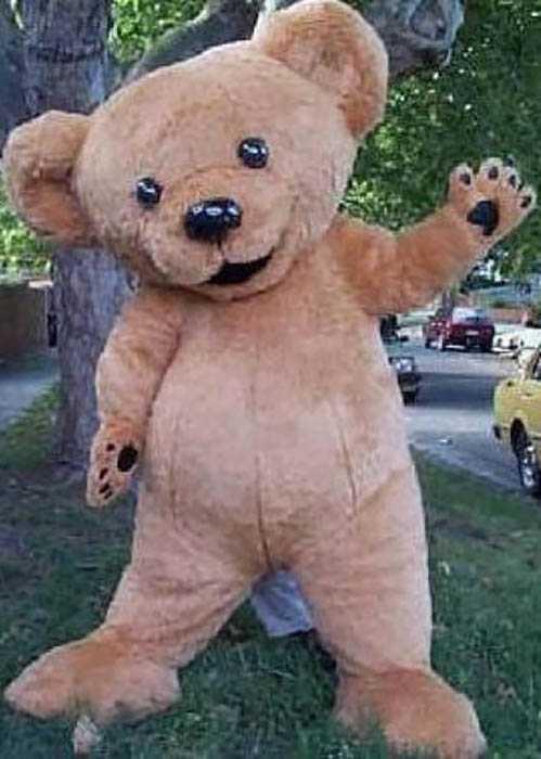 Inflatable Little Teddybear Mascot Suit