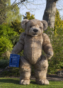 jointed giant teddy suit