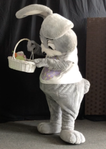 fat gray bunny costume