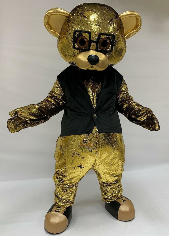 gold teddy bear costume