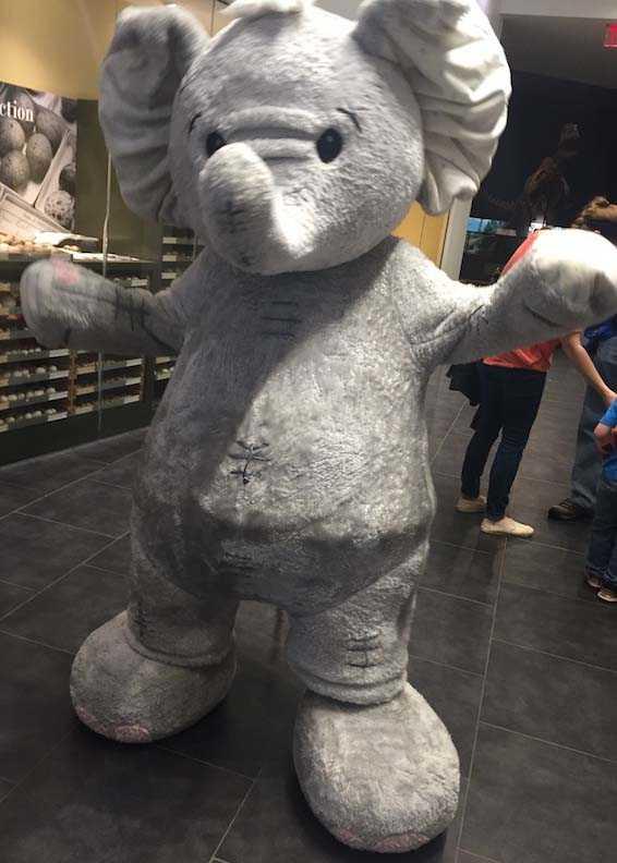 baby elephant mascot suit