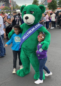 unique green bear puppet