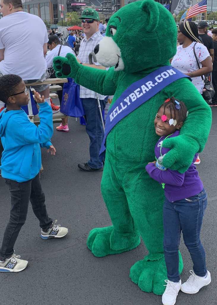 green teddy suit