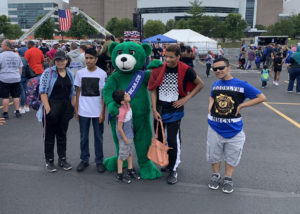 green teddy costume