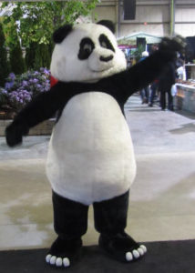 unique panda suit