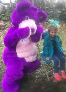 purple teddy costume