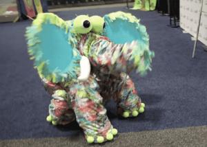 OOAK elephant puppet
