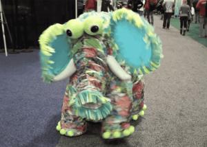 giant puppet elephant