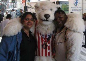polar bear puppet suit