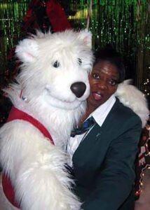 polar bear puppet costume