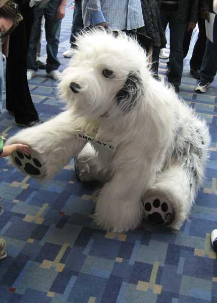 giant sheepdog puppet