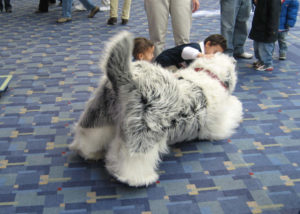 sheepdog puppet suit