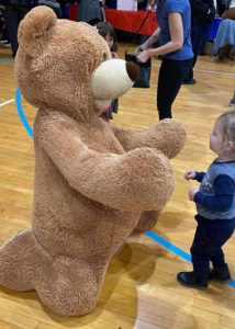 living teddy bear costume
