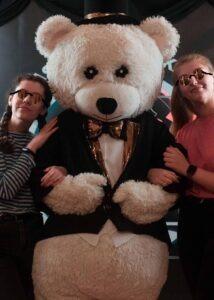 white tuxedo teddy mascot