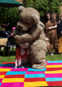 jointed teddy mascot