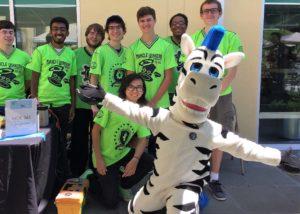 mascot style zebra