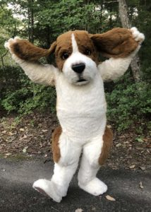 semi realistic beagle suit