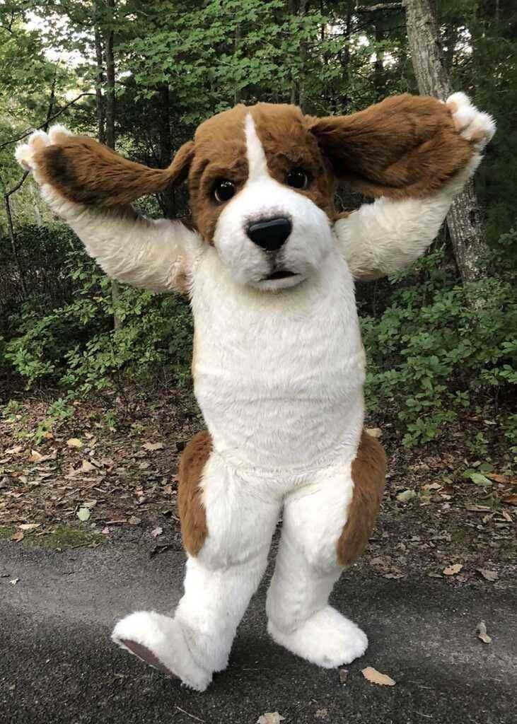 semi realistic beagle suit