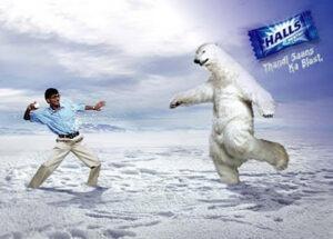 Realistic Polar Bear fillm shoot in mumbai