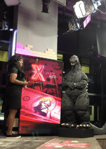 godzilla visits The build Studio NY with Monet xchange