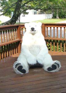 realistic polar bear suit