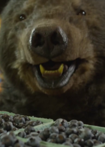 Realistic brown bear costume prop