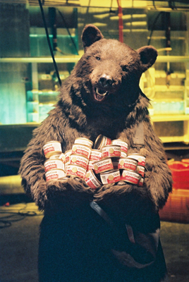 realistic bear costume for Gold Seal Salmon